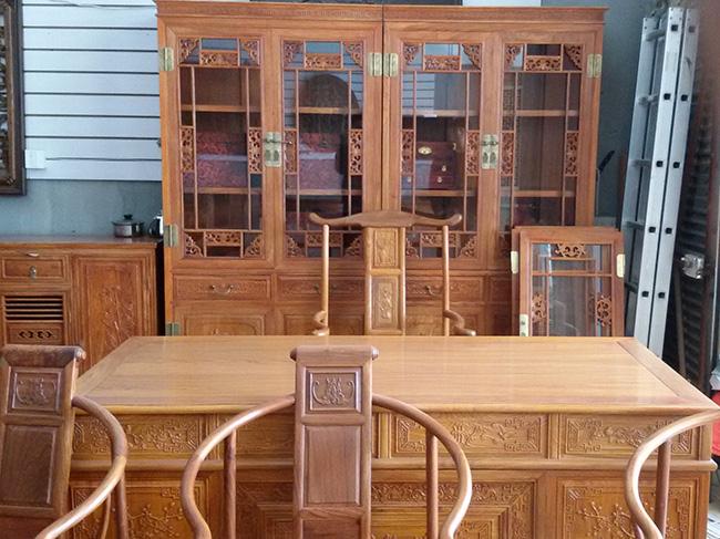 红木书桌 书柜